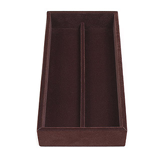 2 Compartment Velvet Jewelry Organizer